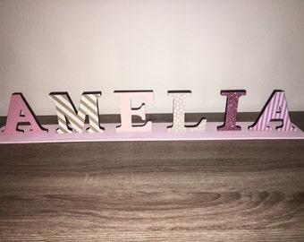 Customizable Wooden Name Plaque