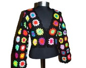 Crochet BOLERO * FloWer PoWer * XS-M * short Cardigan, Granny Square