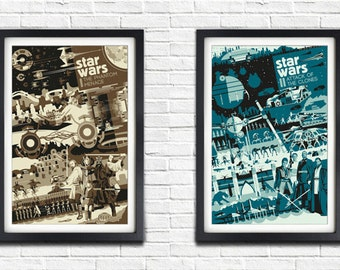 All 7 Star Wars posters - BUY 6 get one FREE