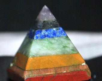 Multi gem Mystic Pyramid 190 Cts  7989