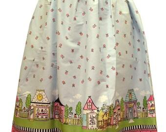 Lolita Village Border Midi Skirt
