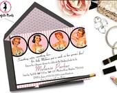 Retro Lace Bridal Shower / Lingerie Shower Invitation - SATIN AND LACE Printable