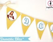 Retro Housewife Bridal Shower Banner - GOSSIP GIRLS Printable