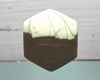Imperial Jasper hexagon form designer cabochon 51x46mm