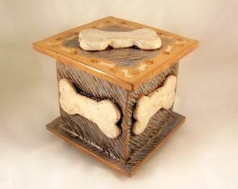 Custom Cremation Urn - Hand-built Stoneware Cremains Box - CHEST