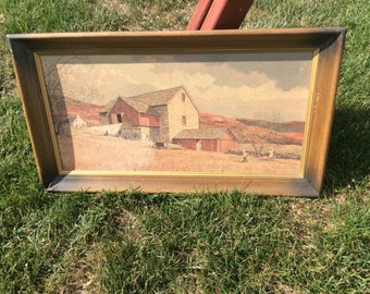 Vintage farm barn picture