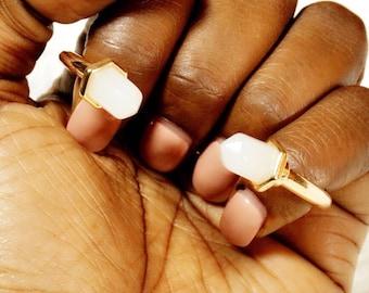 """Gold """"Amie"""" Stone Bangle Bracelet"""
