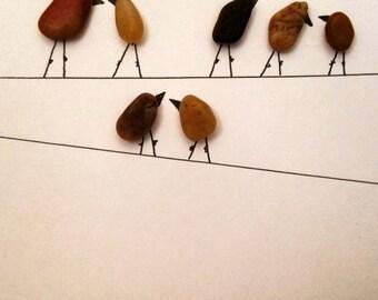 """Enviroart """"Birds on a Wire"""""""
