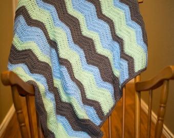 Custom Chevron Crochet Baby Blanket-Made to Order