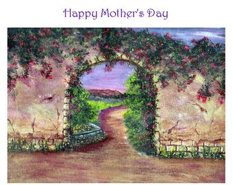 Mother's Day Garden Walk Greeting Card
