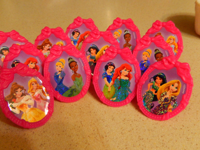 24 disney princess cupcake cake topper rings birthday