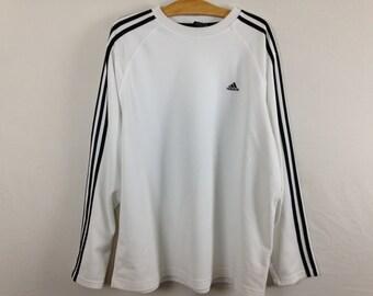 white adidas longsleeve shirt size XL