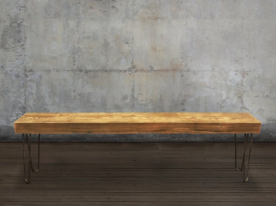 5' Reclaimed Wood Beam Bench