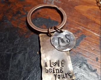 Boyfriend keychain; husband keychain; Valentines gift; couples keychain