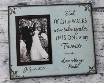 Canvas, personalized wedding frame, father of the bride gift, dad of all the walks we've taken together, wedding gift for parents, CAN-310