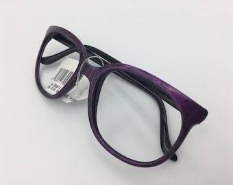 NEW BOLLE acrylex 396 Electric Purple w/ Black Pattern Frame NO Lenses Sunglasses vintage 1980's