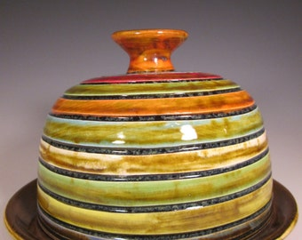 Colorful Ceramic Butter Dish