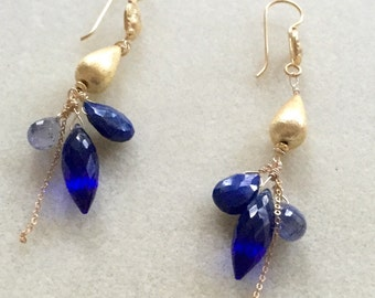 Majestic Miriam Earrings in Royal Blue