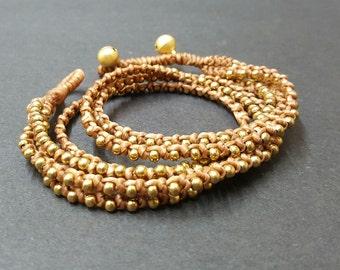2 Wrap  Brass  Bracelet