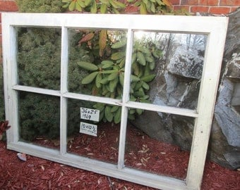 36 x 25 Vintage Antique Window sash old 6 pane  from 1949
