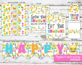 INSTANT DOWNLOAD - Emoji Birthday Mini Package