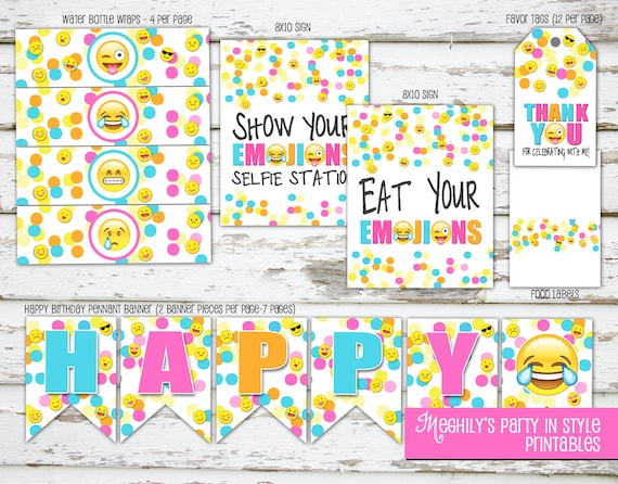 Emoji Birthday Party Decorations  Mini Kit