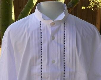 Victorian Historical Mens Barber Shirt Sweeney Todd Replica LARP Steampunk