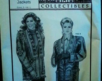 Pattern Fringed Blanket Jackets