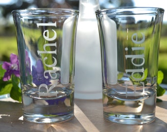 Shot Glass, Custom Shot Glass, Sandblasted Shot Glass, Party Favor, Frosted Glass, Etched Glass, Sandblasted Glass