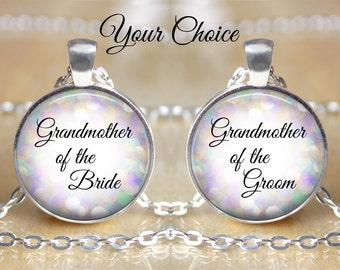 Personalized  Pendant - Grandmother of the Bride or Grandmother of the Groom - Sparkle