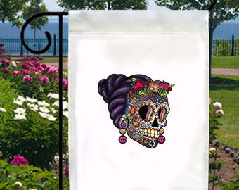 Catrina Skull New Small Garden Yard Flag Day of the Dead