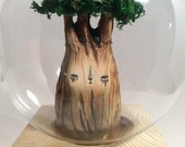 Mysterious creature-wood sculpture- Tree