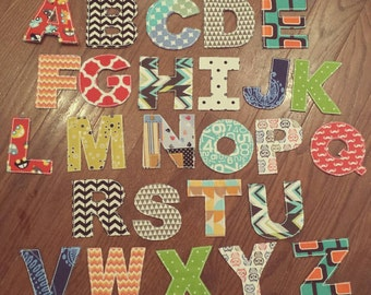Raggy Alphabet Toy. Alphabet Learning Toy. Baby/Toddler/Grade School. Fabric Letters, Numbers or Name. Crinkle Toy.