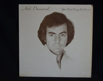 Vintage Vinyl Record Neil Diamond: You Don't Bring Me Flowers Album FC-35625
