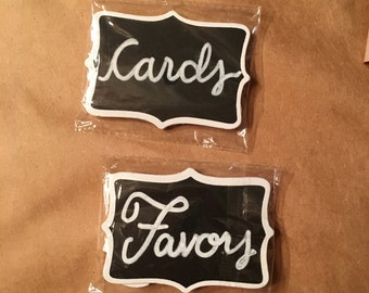 Cards and Favors Chalkboard Wedding Signage