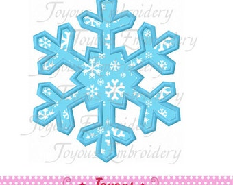 Instant Download Snowflake Applique Machine Embroidery Design NO:1885
