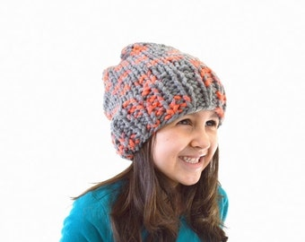 ON SALE Kids Chunky Slouchy Hat Beanie // The Newry // in Monarch