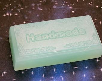 CHINA RAIN GLYCERIN Bar Handmade Soap Natural 5 oz - 20% More Soap Than Pretty Bar Rain-Sandalwood-Musk