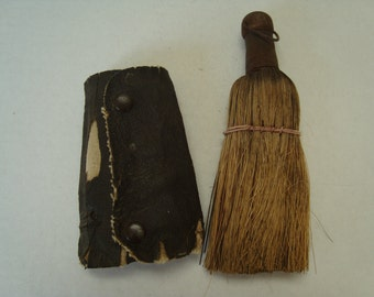Vintage Small Whisk Broom With Case