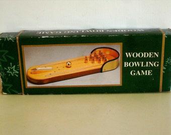 Vintage Wooden Bowling  Game
