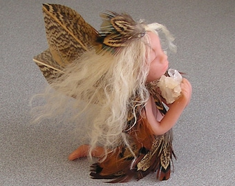 Fairy Angel miniature ooak hand crafted polymer clay sprite