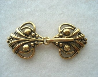 Shawl Clasp Gold Colour Shawl Clip Metal Fastener Sweater Clip MB45 Two Part Fastener