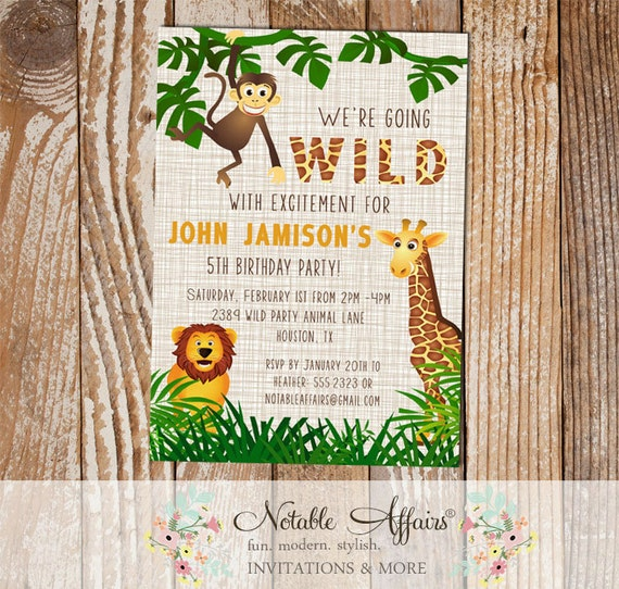 Wild With Excitement Jungle Theme Zoo Animal Birthday Party