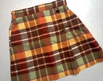 Girl Child Tartan Skirt faux Kilt scottish plaid pattern