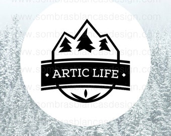 OOAK Premade Logo Design - Icy Mountain - Perfect for a sportswear shop or a hikking related business