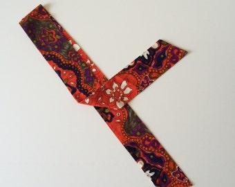1960's Psychadelic Ascot Tie Head Wrap