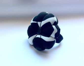 Handmade Black and White Colour Wrist Pin Cushion ( Approximately 8cm )
