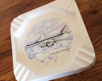 Vintage United Airlines DC-8 Ashtray