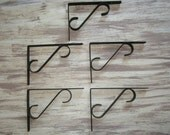 Black Wrought Iron Shelf Brackets - Corbels [Stag]