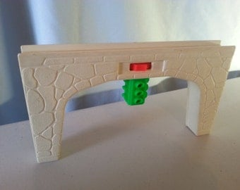 Vintage FISHER PRICE Little People Grey Bridge Connector from the #997 Play Family Village.